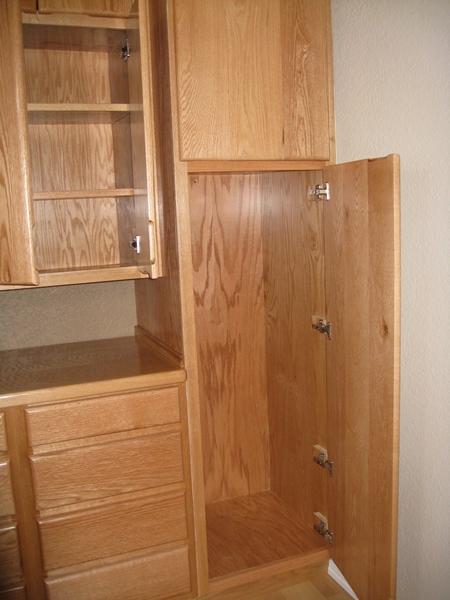 oak custom cabinet