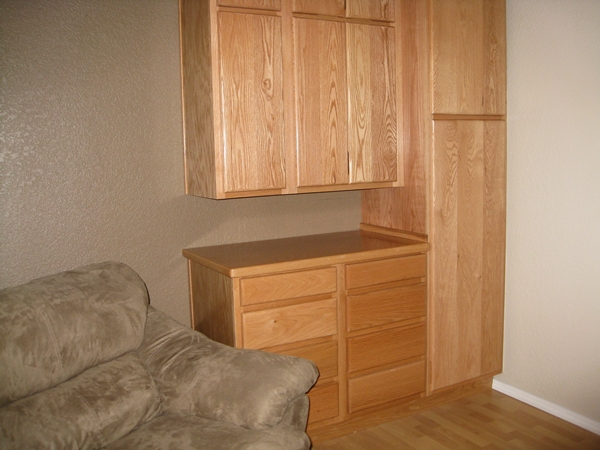 custom oak cabinet