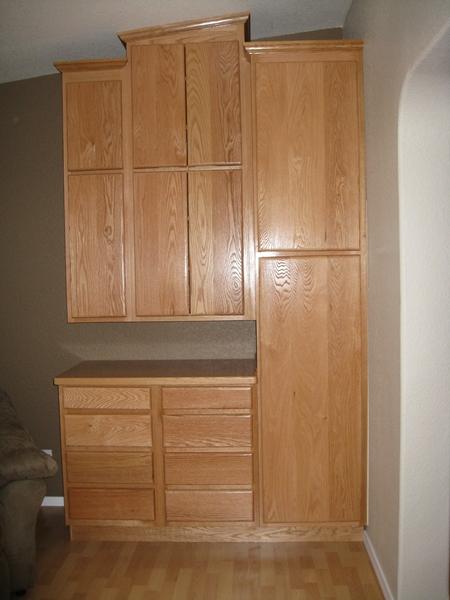 custom cabinet oak